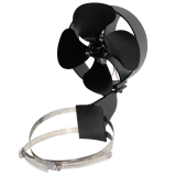 IPRee 4 Blades Fireplace Fan Thermal Heat Power Stove Fan Wood Burner Fan Heat Power Fan