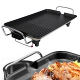 110V Smokeless Non Stick Electric Oven Baking Pan BBQ Barbecue Grill US Plug