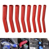 150mm Red Silicone Hose Rubber 15 Degree Elbow Bend Hose Air Water Coolant Joiner Pipe Tube