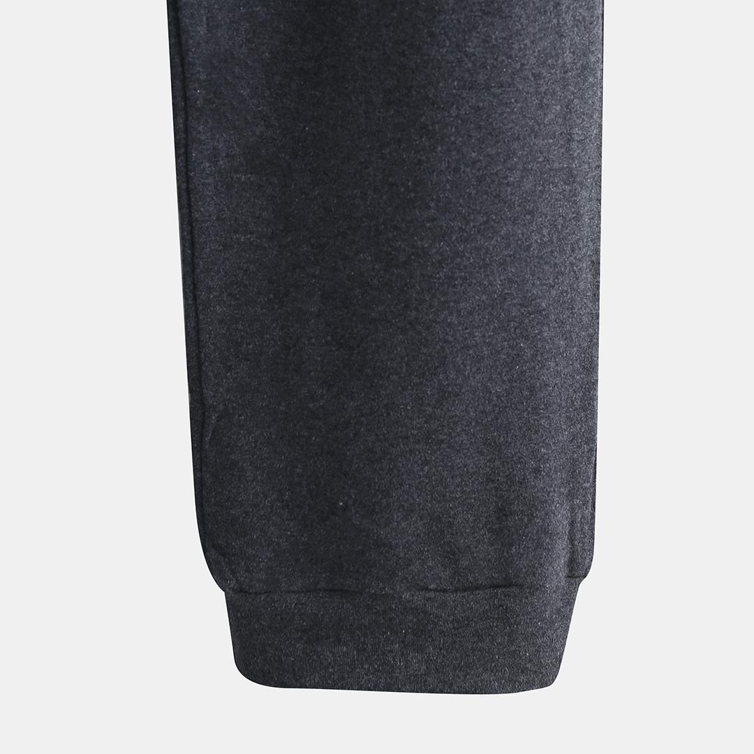 Men Cotton Casual Pajama Set Contrast Color Long Sleeve Crew Neck Sleepwear