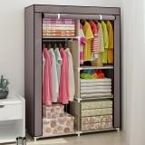 Clothes Closet Portable Wardrobe Closet Storage Organizer Clothes Hanging Rack With Shelf