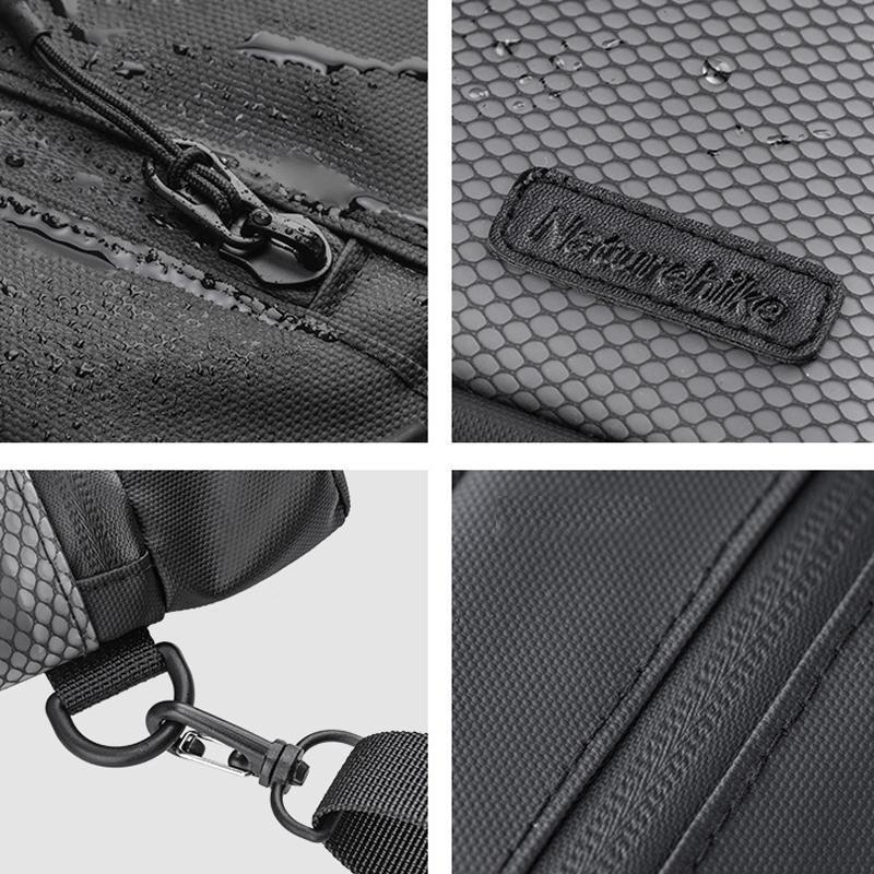 Naturehike 1.2L TPU Net Wash Bag Waterproof Travel Cosmetic Bag Wet and Dry Separation Storage Bag