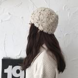 Women Hand-crocheted Beanie Caps Retro Literary Casual Turban Hat