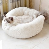S/M/L Donut Plush Small Dog Cat Beds Warm Soft Pet House Nest With Pillow Cave Pet Bed