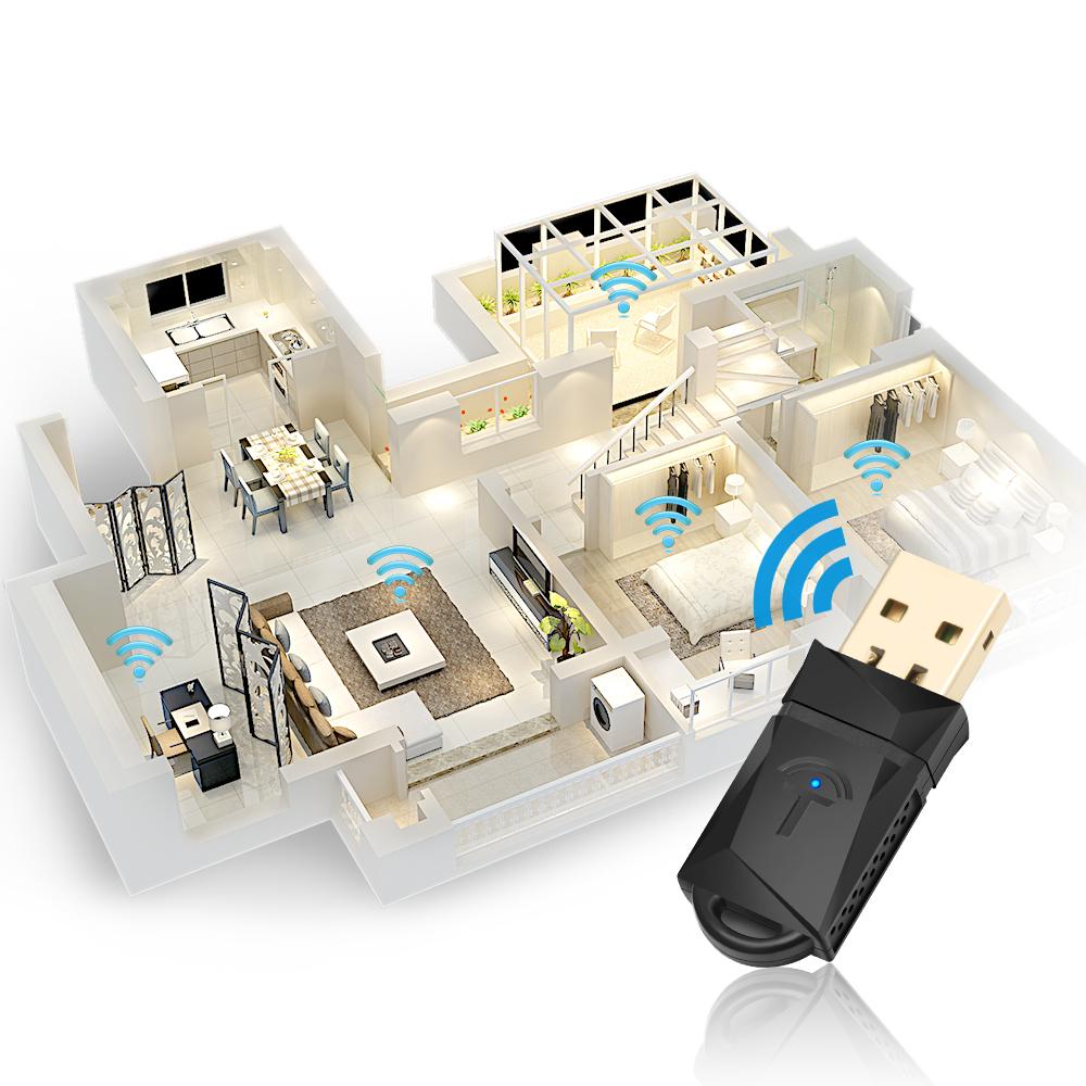 Rocketek 300Mbps WiFi USB Mini Wireless USB Adapter Networking Adapter Lan Card Mini Wifi Adapter Wireless USB Dongle