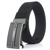 TUSHI 125×3.4cm Tactical Belt Nylon Belt Quick Release Metal Buckle Waist Belt