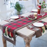 35x180cm Table Runner Christmas Table Runner Mat Set Tablecloth Decorations