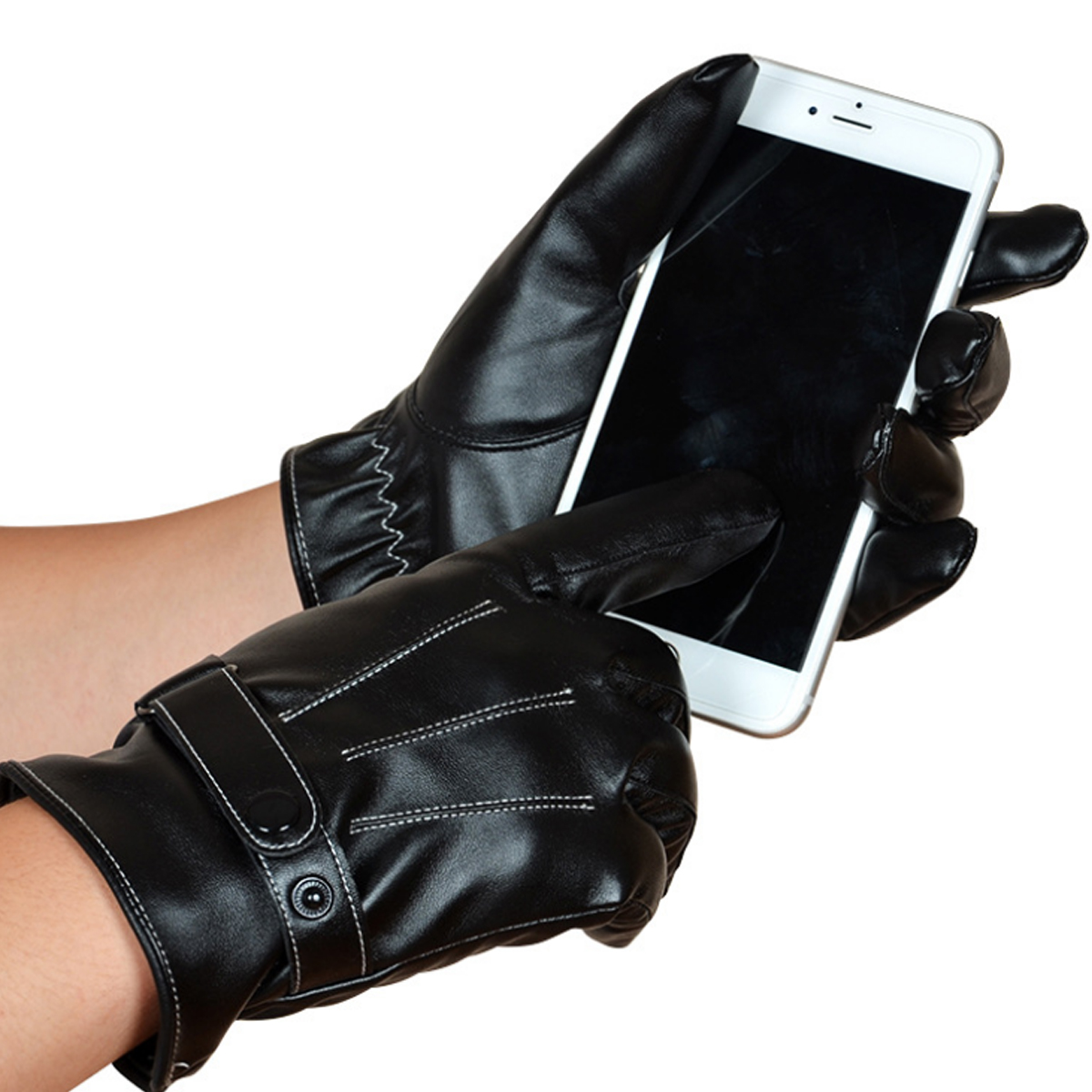 Winter Warm Thermal Leather Gloves Touch Screen Cycling Skiing Snow Snowboard Gloves