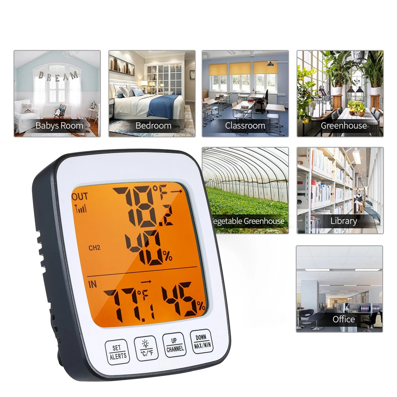 Digital Temperature & Humidity Meter Thermo-hygrometer C/F Thermometer Hygrometer