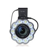 SL-102C Macro LED Video Ring Flash Light for Canon 650D 600D 60D 7D 550D 1100D T4i T3i T3 SL-102C DSLR Camera