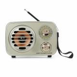 MD-307BT Retro Vintage AM FM SW Radio bluetooth Speaker TF Card USB Charge Home Audio Antenna Radio