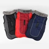 Winter Waterproof Dog Clothes Dog Jacket Vest Pet Warm Padded Coat Fur Collar