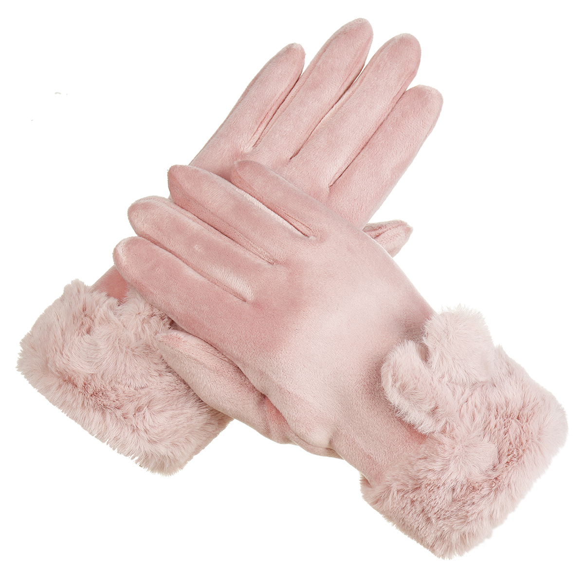 Women Winter Warm Gloves Outdoor Sport Touch Screen Windproof Full-finger Thermal Gloves