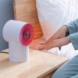 220V 800W Mini Space Heater Small Desktop Fan Shakeable Electric Warmer Heating Fan
