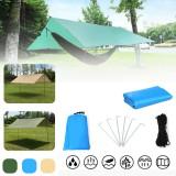 400x300cm Outdoor Rainshed Sunshade Sky Curtain Camping Tent Tarp Camping Beach Picnic Sun Shelter Awning Tent