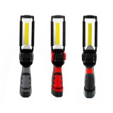 XANES White COB/Red COB+LED 800Lumen 5Modes USB Rechargeable LED Flashlight Outdoor Magnetic Work Light Emergency Light