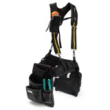 Adjustable Heavy Duty Work Tool Bag Belt Suspender With Mobile Phone Pouch 3 Loops