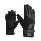 Winter Warm Leather Gloves Touch Screen Waterproof Windproof Riding Cycling Skiing Gloves