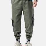 Men's Plus Velvet Thick Large Size Overalls Leg Pants Casual Pants