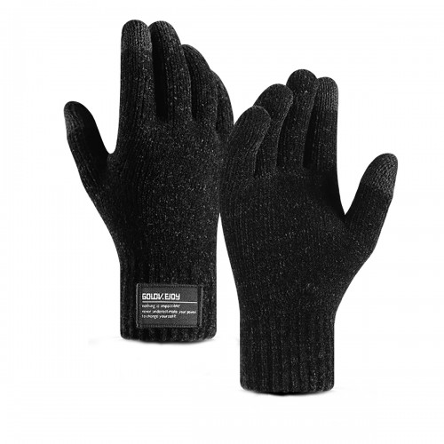 Mens Fleece Lined Touch Screen Gloves Outdoor Winter Warm Waterproof Thermal