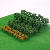 Trees Model Train Railway Railroad Wargame Diorama Scenery Landscape Decorations