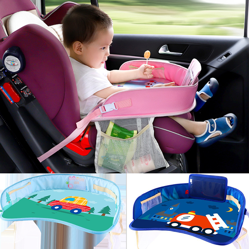 Child Toddler Adjustable Car Seat Table Traveling Food Home Activity Snack Tray
