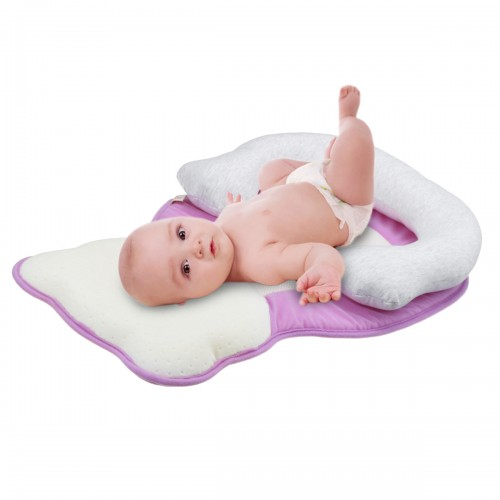 Breathable Newborn Baby Infant Pillow Sleep Mat Anti Flat Head For Crib Bed Neck-Suppor