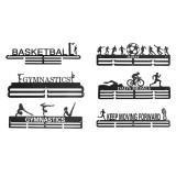 6 Types Black Sporting Medal Hangers Awards Display Medal Holder Rack Decorations