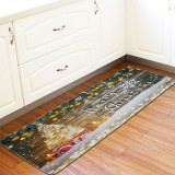 60 x 170cm Anti-Skid Christmas Area Rugs Carpet Floor Mat Home Kitchen Bedroom