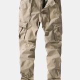 Men's Large Size Multi-pocket Nine Tide Brand Autumn Casual Washed Cotton Pants