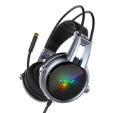 Somic E95-20 USB Virtual 7.1 Gaming Headphone Soft Flexible Stereo Vibration Wired Over Ear Headset with Mic with RGB LED Light