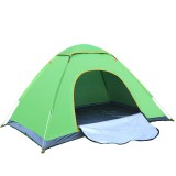 3-4 Person Quick Up Camping Tent Single Door Polyester Beach Tent Hiking Sunshade Awning