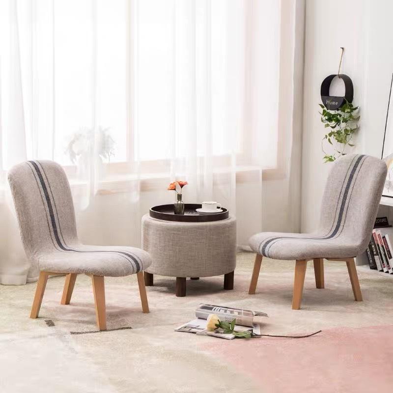 Low Stool Shoe Changing Stool Leisure Wooden Chair Nursing Breastfeeding Stool Fabric Backrest
