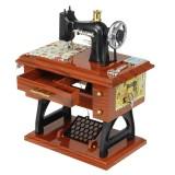 Retro Vintage Music Box Mini Sewing Machine Birthday Kids Gift Table Desk Decor