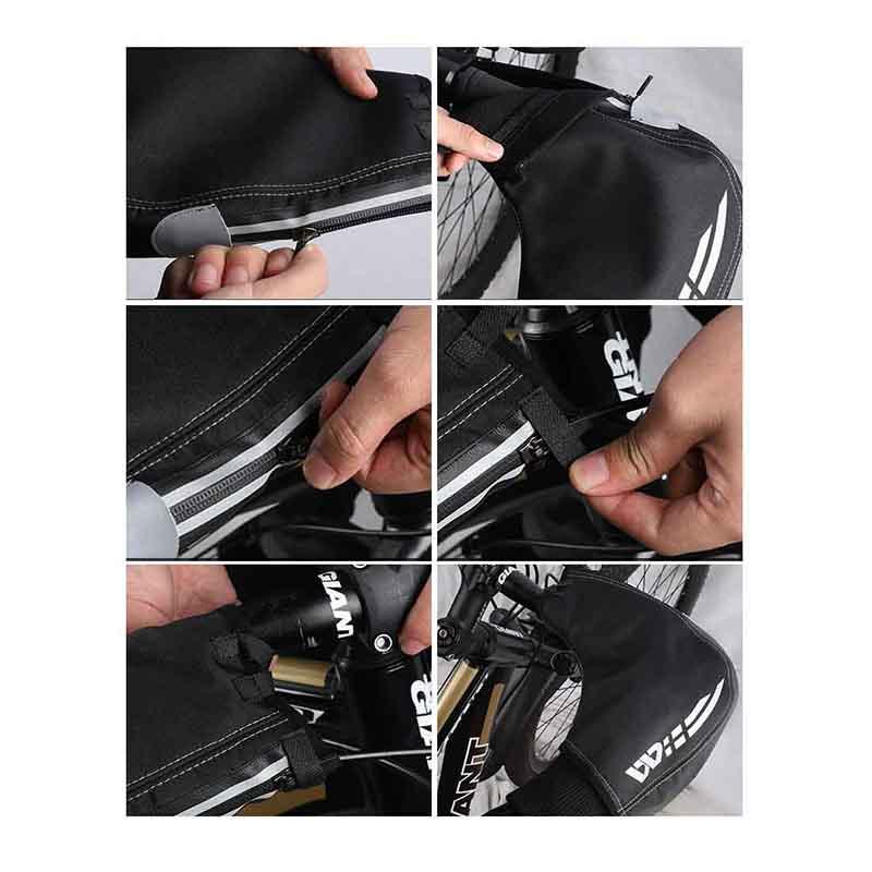 WEST BIKING Windproof Waterproof Reflective Winter Warm Riding Gloves Outdoor Mountain Bike Gloves Bike Gloves Handlebar Gloves