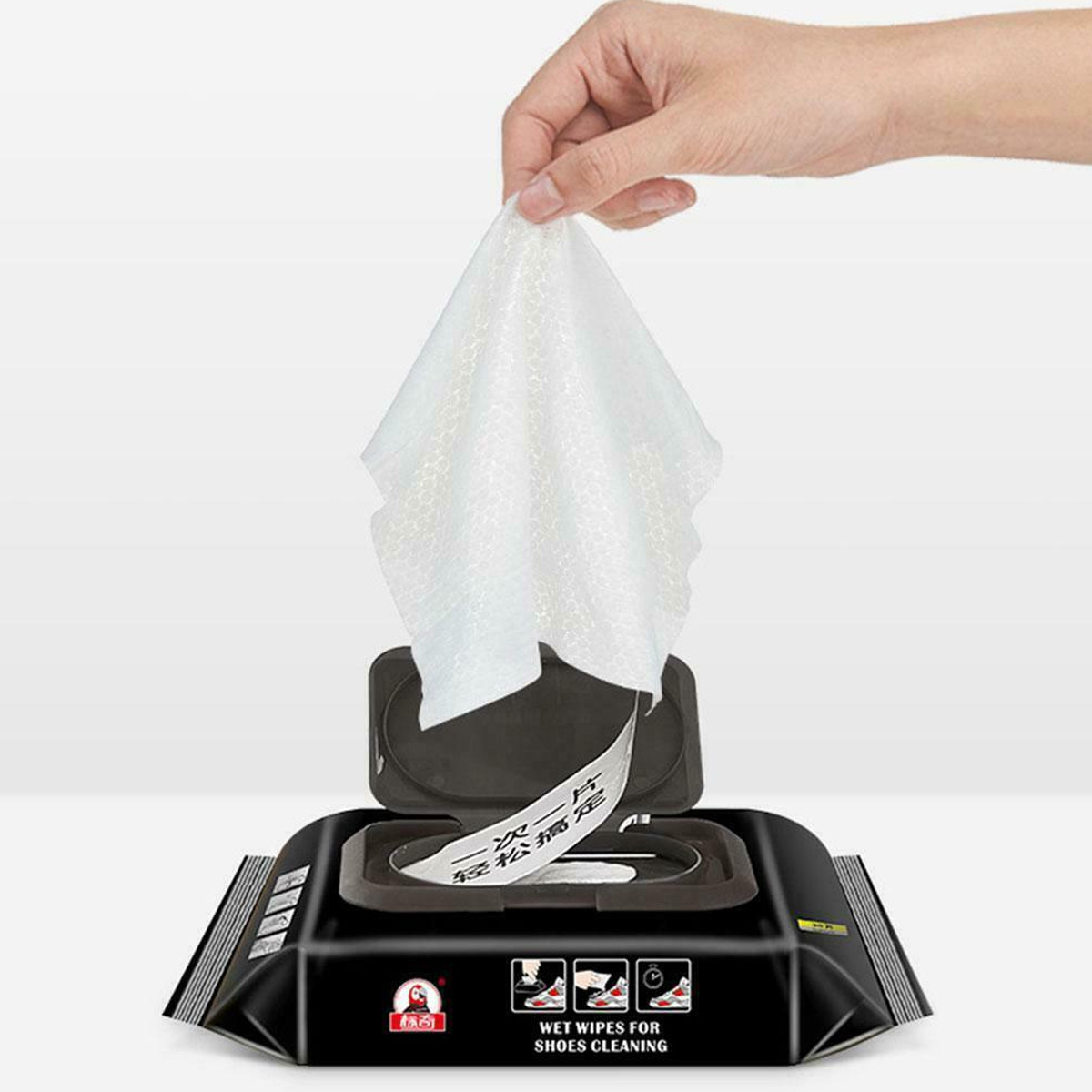 Wet Wipes White Shoes Artifact Travel Portable Disposable Sneakers Cleaning Wet Wipes Paper Bag