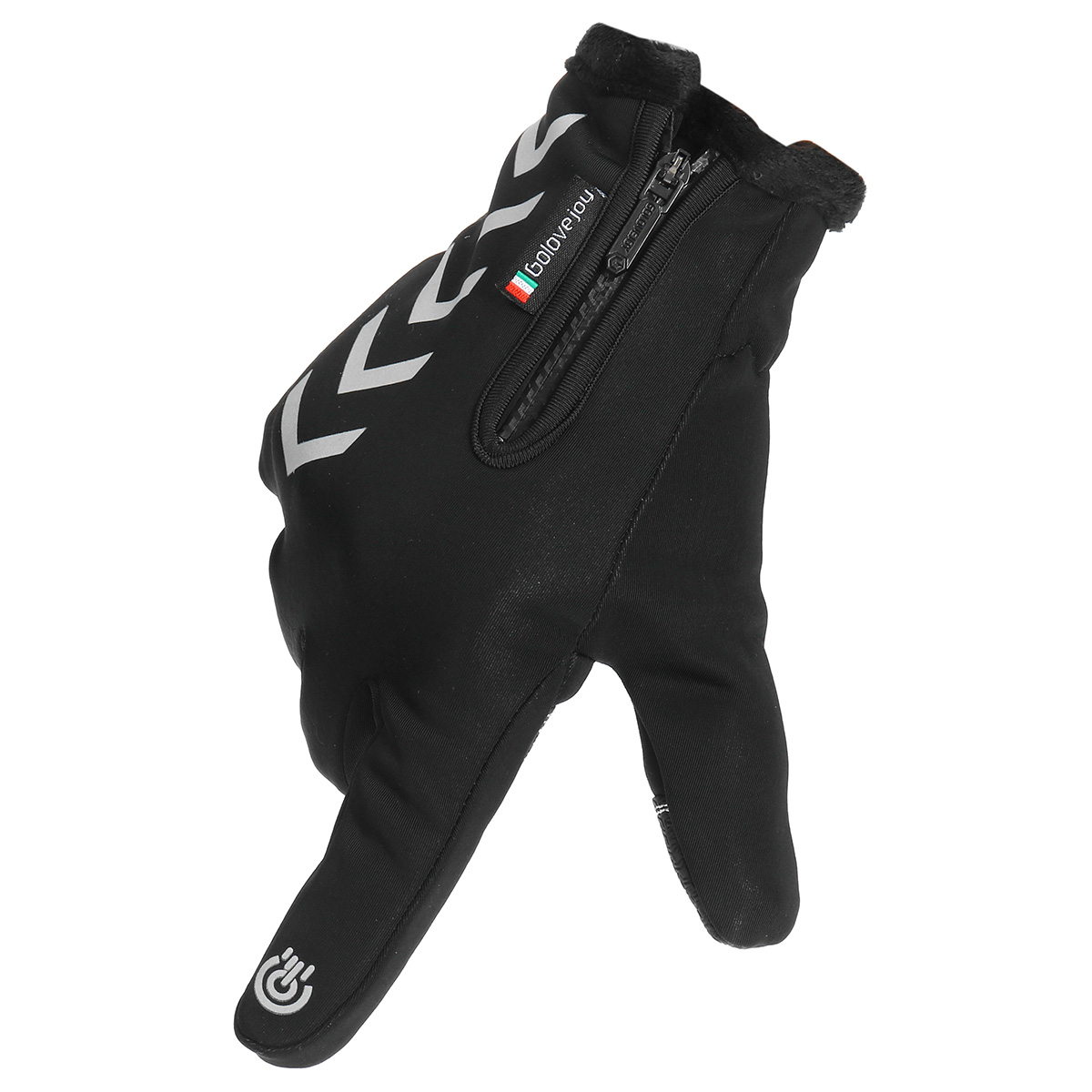 Winter Warm Touch Screen Full Finger Gloves Reflective Strip Windproof Anti slip Cycling Thermal Bike Glove