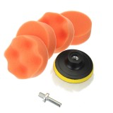 7pcs Buffing Sponge Polishing Pad Waxing Buffing Pad Drill Woolen Sponge Wheel