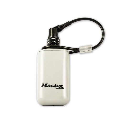 Mini Portable Key Box with Cable Lanyard Multifunction Home Outdoor Backpack Hanging Code Lock Storage Box