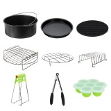 "Fits for 5.3-6.8QT 9Pcs 9"" Non-stick Air Fryer Accessories Baking Cooking Pan"