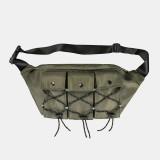 Men Women Fashion Multi-pocket Light Weight Shoulder Bag Crossbody Bag