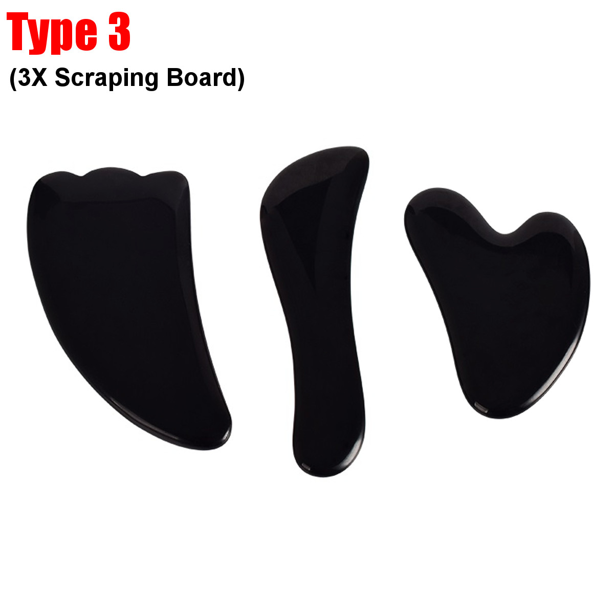2-3X Natural Guasha Facial Jade Roller Face+Body Gua Sha Board Massager Tool Manual Massager