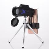 IPRee 12X50 Waterproof Monocular Optical HD Lens Portable Telescope + Mobile Phone Clip + Telescopic bracket