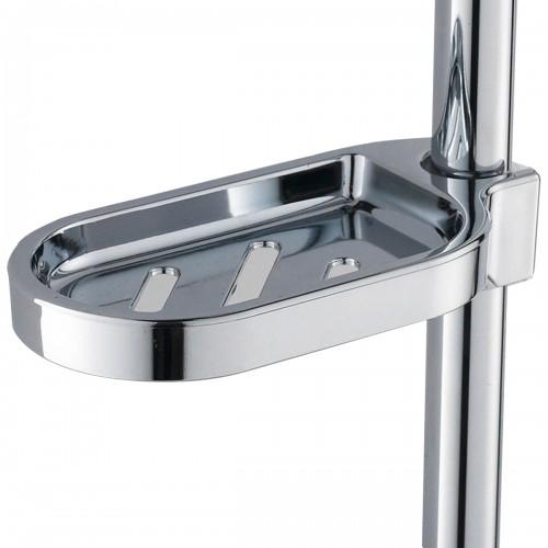 Silver ABS Plastic Soap Plates Bathroom Soap Storage Rack Drain Shower Hose Supply Soap Dishes Kitchen Sponge Holder