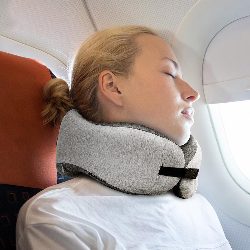 Naturehike U-shaped Pillow Travel Office Adjustable Nap Neck Pillow 50D Memory Foam Pillow