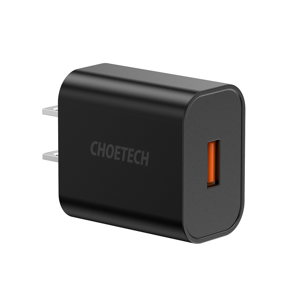 CHOETECH Q5003 18W QC 3.0 Quick Charge USB Port Wall Charger for Smartphone Tablet Laptop