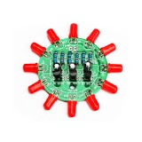 10pcs DIY Electronic Kit Set LED Round Water Light Production Kit for Skill Training Soldering Practice Parts