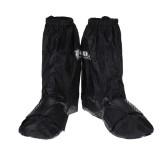Waterproof Shoe Boot Covers Rain Protector Anti-slip Overshoes Reusable Unisex Oxford Cloth Black