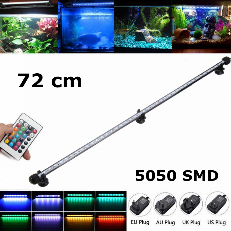 72CM 11.1W IP68 Waterproof 42PCS LED Aquarium Light RGB Remote LED Fish Tank Light Submersible