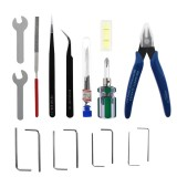 TWO TREES 25-Piece Tool Kit Screwdriver Wrench Set Tweezer Pliers Cleaning Needles for Cleaning Removing Finishing Multifunctional Tools Kit for 3D Printers